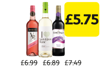Hardys VR Rose, I Heart Sauvignon Blanc, Echo Falls Merlot, Was £6.99, £6.89, £7.49 - Now £5.75 at Londis