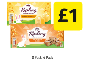 Mr Kipling Hot Cross Slices, Lemon Fancies  - £1 at Londis