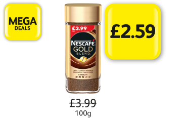 MEGA DEALS:  Nescafe Gold Blend Original, Was £3.99 - Now £2.59 at Londis