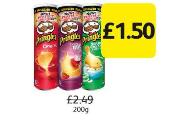 Pringles, Was £2.49 - Now £1.50 at Londis
