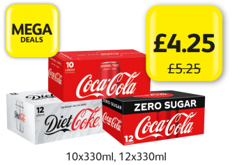 MEGA DEALS: Coca Cola Classic,  Diet Coke, Coke Zero, was £5.25 - Now only £4.25 at Londis