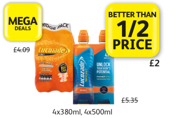 MEGA DEALS: Lucozade Energy, Sport, was £4.09, £5.35, Now only £2 - Better Than 1/2 Price at Londis