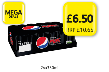 MEGA DEALS: Pepsi Max Original, RRP £10.65 - Now only £6.50 at Londis