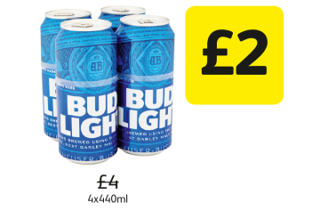 Bud Light - Was £4, Now £2 at Londis