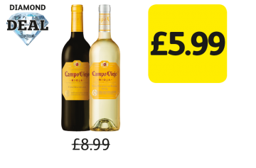 Diamond Deal: Campo Viejo Tempranillo, Garnacha, Blanco - Was £8.99, Now £5.99 at Londis