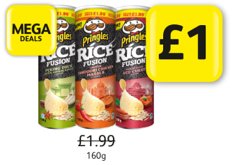 Mega Deals: Pringles Rice Fusion - Was £1.99, Now Only £1 at Londis