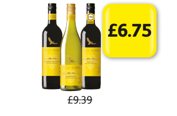 Wolf Blass Yellow Label Cabernet Sauvignon, Merlot, Chardonnay - Was £9.39, Now £6.75 at Londis