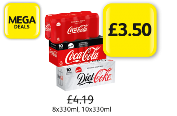 Mega Deals: Coca Cola Classic, Diet Coke, Coke Zero, Was £4.19 - Now Only £3.50 at Londis