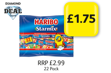 DIAMOND DEAL: Haribo Starmix, RRP £2.99 - £1.75 at Londis