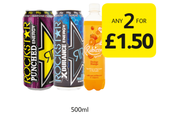 SUMMER SAVINGS: Rockstar, Rubicon Spring - Any 2 for £1.50 at Londis