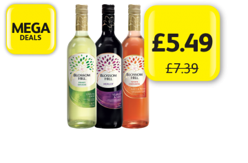 MEGA DEALS: Blossom Hill Wine, Was £7.39 - Now only £5.49 at Londis