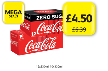 MEGA DEALS: Coke Zero, Coca Cola Classic, Was £6.39 - Now only £4.50 at Londis