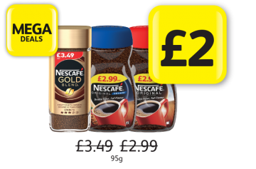 MEGA DEALS: Nescafe Gold Blend, Original/Decaffeinated, Was £3.49, £2.99 - Now only £2 at Londis