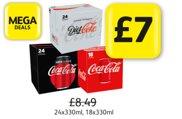 MEGA DEALS: Diet Coke, Coke Zero, Coca Cola Classic, Was £8.49 - Now only £7 at Londis