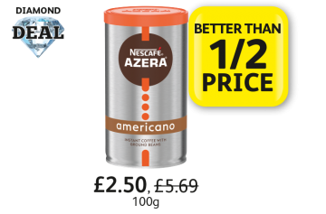 DIAMOND DEAL: Nescafe Azera Americano, was £5.69, Now £2.50 - Better Than 1/2 Price at Londis