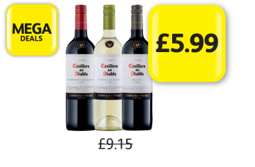 MEGA DEALS: Casillero Del Diablo Cabernet Sauvignon, Sauvignon Blanc, Merlot, Was £9.15 - Now Only £5.99 at Londis