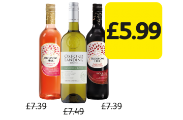 BIG NIGHT IN: Blossom Hill, Oxford Landing Wine, Was £7.39, £7.49 - Now only £5.99 at Londis