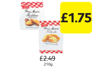 Bonne Maman Madeleines, Mini Loaf,  Was £2.49 - Now Only £1.75 at Londis