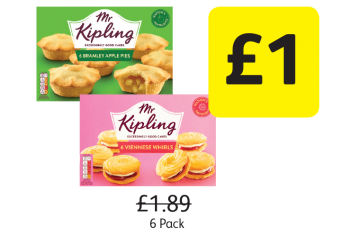 Mr Kipling Apple Pies, Viennese Whirls, Was £1.89 - Now Only £1 at Londis