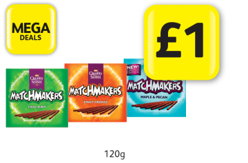 MEGA DEALS: Quality Street Matchmakers Cool Mint, Zingy Orange, Maple & Pecan - Only £1 at Londis