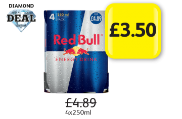 DIAMOND DEAL: Red Bull, Was £4.89 - Now Only £3.50 at Londis