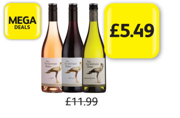 MEGA DEALS: Secretary Bird Rose, Shiraz, Chenin Blanc, Was £11.99 - Now only £5.49 at Londis