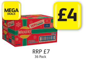 MEGA DEALS: Walkers Variety Box, RRP £7 - Now only £4 at Londis