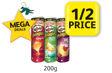 MEGA DEALS: Pringles Price Marked Packs, Was £2.99 Now Only £1.49	1/2 Price at Londis
